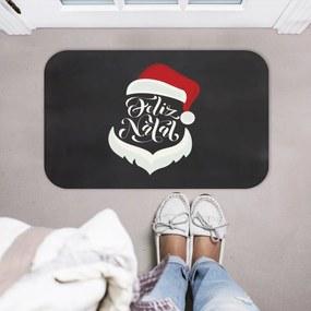 Tapete Decorativo Mdecore Natal Papai Noel Preto40x60cm