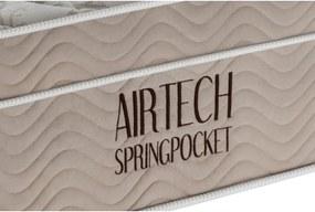 Colchão Airtech Spring Pocket Solteiro 88x188x30 Superpocket D26 Bege Ortobom