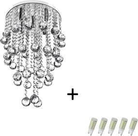 Pendente Cristal Legitimo Classic Round Long 32 + Lamp 3000