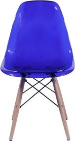 Cadeira Policarbonato com Base de Madeira 1101 OR Design - Azul