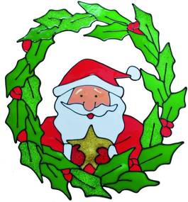 Guirlanda Adesivo Decorativo Noel Vermelho Verde