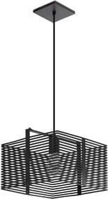 Pendente Quadrado Preto Fosco Cecil 22x15cm
