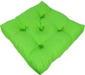 Futon Fio Tinto Algodão Verde Maça 48X48X10Cm