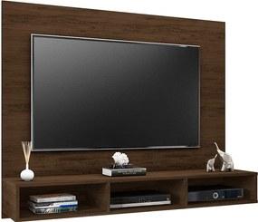 Painel Suspenso 1.3 para TV de até 55'' Sala de Estar Ametista Cedro Texturizado - Gran Belo