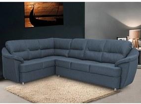 Sofá de Canto Cama InBox Lima 1,75x2,70m Tecido Suede Velusoft Azul