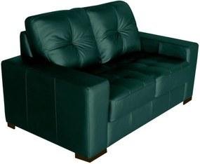 Sofá 2 Lugares Sala de Estar 150cm MilÁo Couro Verde - Gran Belo