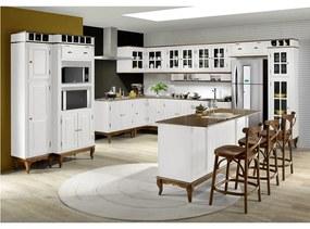 Cozinha Hannover Branca Completa Linz Móveis -