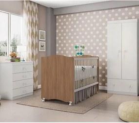 Quarto de Bebê Completo Sabrina Plus 3 em 1 - Branco