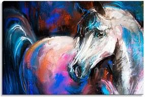 Tela Decorativa Estilo Pintura Cavalo - Tamanho: 60x90cm (A-L) Unico