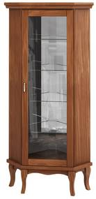 Cristaleira Italy de Canto Prateleiras e Porta de Vidro - Wood Prime LL 33036
