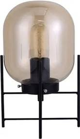 Luminária De Mesa Metal Preto Fumê Flint