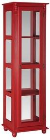 Cristaleira com Lateral de Vidro e Espelho - Wood Prime MY 907422