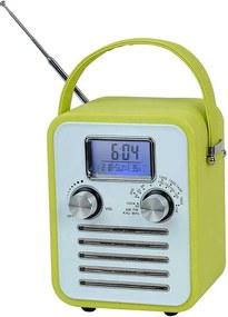 Rádio AM/FM Granpa Verde com Relógio Digital e Speacker - Urban