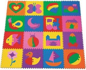 Tapete Fofinho - Desenhos 8 mm 16 Peças Mingone Rosa