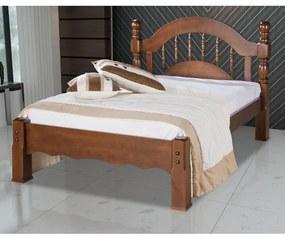 Cama de Casal Siena Madeira Maciça Bedroom - Avelã