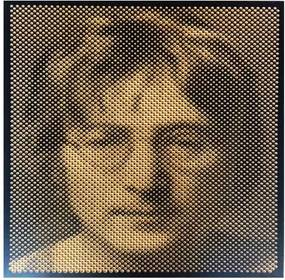 Quadro Madeira Perfurado John Lennon