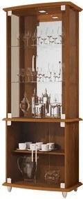 Cristaleira Com Portas De Vidro 4070 Jb Bechara Caramelo