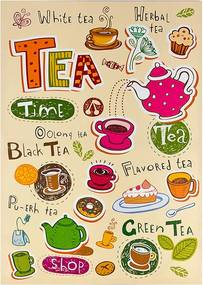 Tela Impressa Desenhos Tea