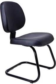 Cadeira de Escritório, Fixa, Preta, Office Interlocutor