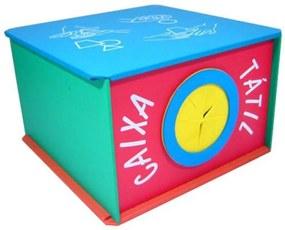 Caixa Tátil Planeta Brinquedo Madeira Multicolorido