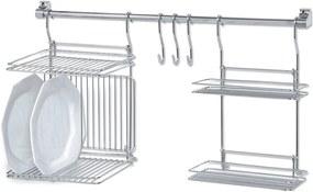Kit Cozinha Suspensa Escorredor Porta Temperos Kit04 Cromado