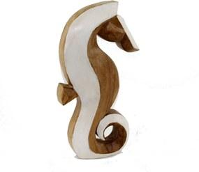 Cavalo marinho Decor Grouperativo em madeira rústica 30cm - Grouper
