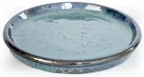Prato Vietnamita Cerâmica Importada Redondo Aqua 21cm