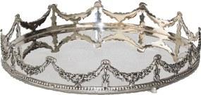 Enfeite de Mesa de Prata Textur