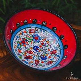 Tigela Turca em Cerâmica 21cm   Red
