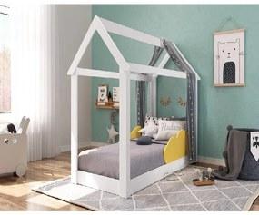 Cama Mini Casinha Montessoriana Infantil Branca Amarelo