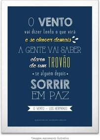 Poster O Vento - Los Hermanos (40x60cm, com Painel)