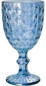 Jogo Taças Água Vidro 6 Peças Roman Azul 345ml 35457 Bon Gourmet