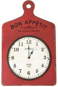 Relógio Decorativo de Parede Bon Appétit