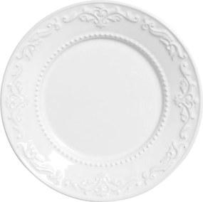 Jogo de Pratos de Sobremesa Porto Brasil 6 Peças Flat Acanthus Branco