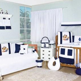Quarto Completo PadrÁo Americano Padroeira Baby Príncipe Dos Mares Azul Marinho