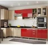 Cozinha Modulada Sicilia 07 Modulos Argila Vermelho Multimoveis
