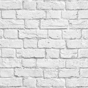 Papel De Parede Adesivo Tijolo Branco Contém 2 Rolos De0,60X3m Caixa 870
