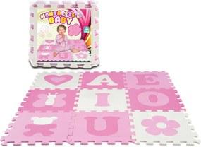 Tapete Nig Brinquedos com Vogais e Figuras - Baby Meninas - Rosa