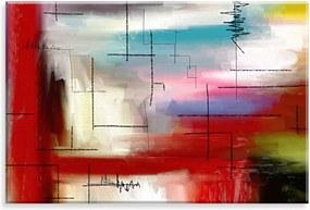 Tela Love Decor Decorativa em Canvas Pintura L7 Multicolorido 90x60cm