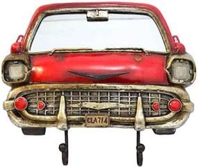 Espelho Com Ganchos Bel Air Chevrolet Vermelho 1953 Oldway