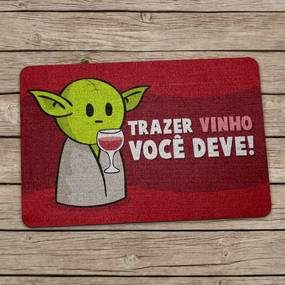 Capacho Ecológico DrPepper Mestre MiniOda Vinho Geek10 - Multicolorido