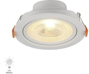 Spot de Embutir LED Redondo 6W Branco Frio 6500K - 80166004 - Blumenau - Blumenau