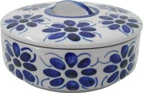 Pote Porta Mantimento em Porcelana Azul Colonial 700 ml