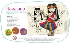 Boneca De Pano Havaiana Alegria Sem Bateria Colorido