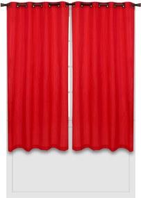 Cortina Bella Janela Rústica Parma 3,60x2,50m Vermelha