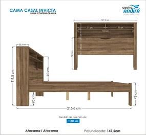 Cama Casal Invicta C/Baú 225755 Atacama Santos Andirá