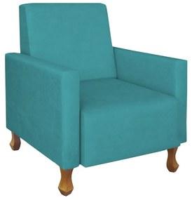 Poltrona Sofia Suede Azul Tiffany Amamentação, Sala, quarto