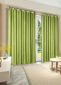 Cortina Rústica Verde 280x230 cm