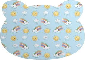 Tapete PET Mdecore Urso Arco iris Azul 54x39cm