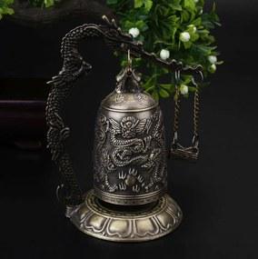 Sino da Sorte com Dragão Chinês em Metal (12cm)